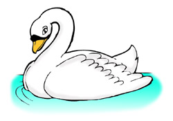 Free swan clipart 2 image