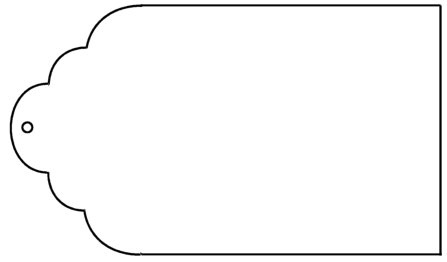 Gift tag clipart