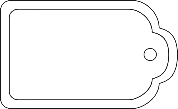 Plain Gift Tags Clipart #1