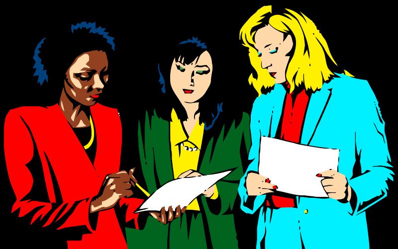 Free Three Women Discussing .