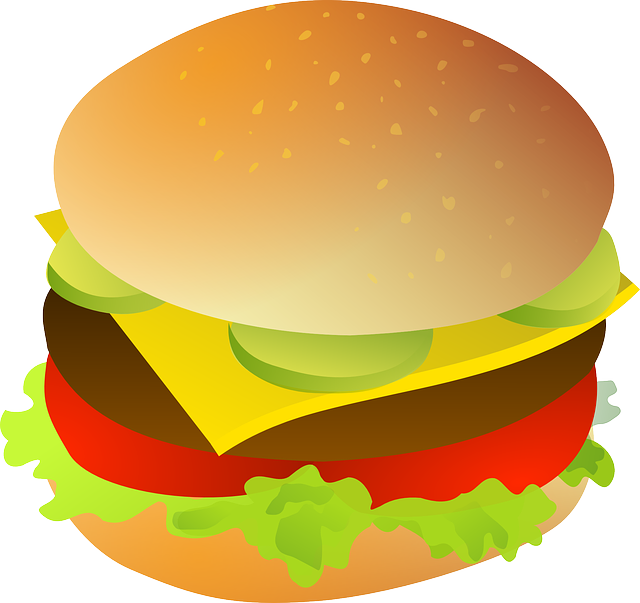 Clipart - Hamburger