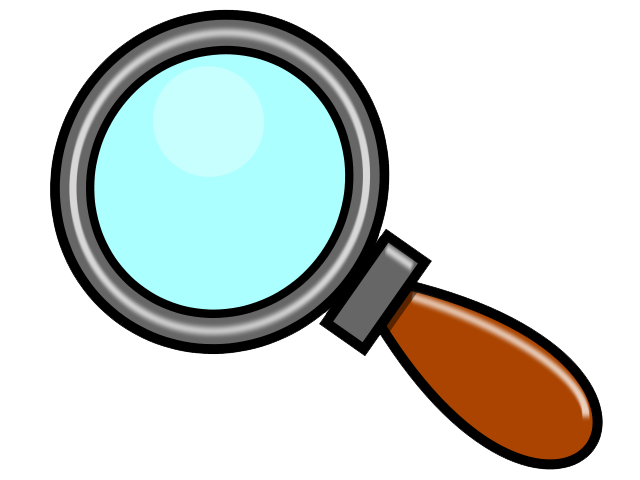 Free to Use Public Domain Magnifying Glass Clip Art