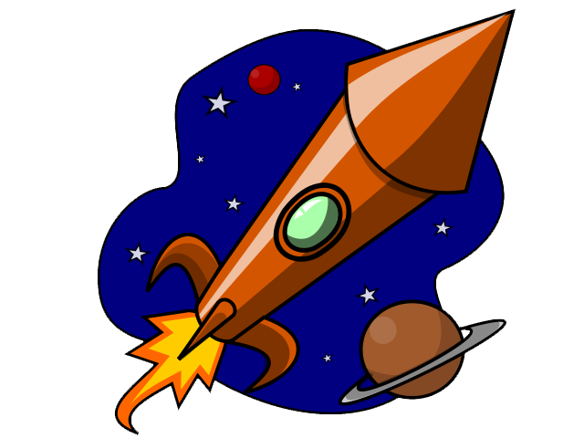 Free to Use Public Domain Rocketship Clip Art