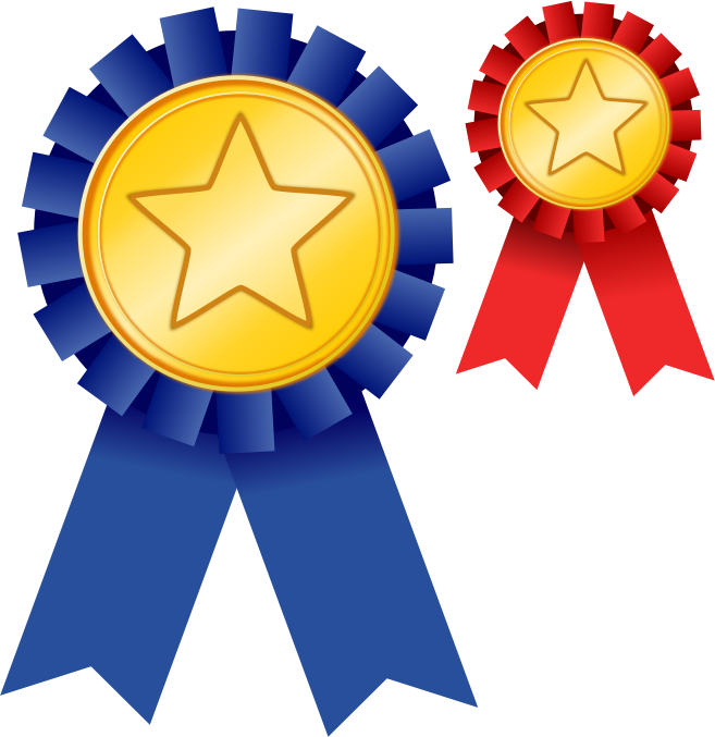 Free Two Award Ribbons Clip Art