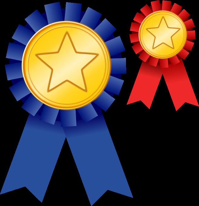 Free Two Award Ribbons Clip Art