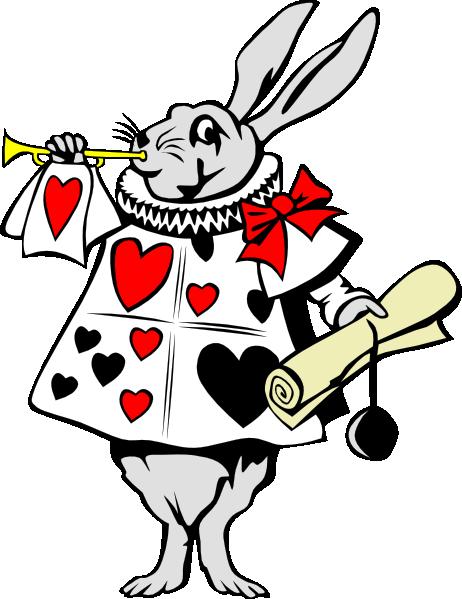 ... free vector Rabbit From Alice In Wonderland clip art
