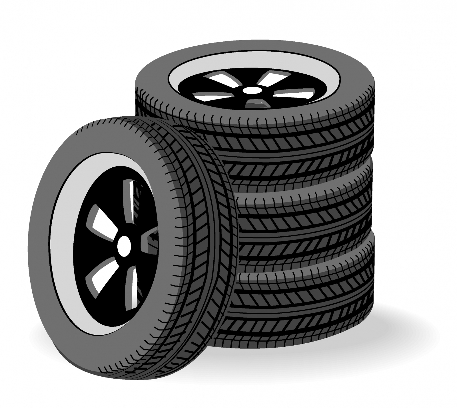 Free Vector Tires Stacked 133553 Tires Stacked Jpg
