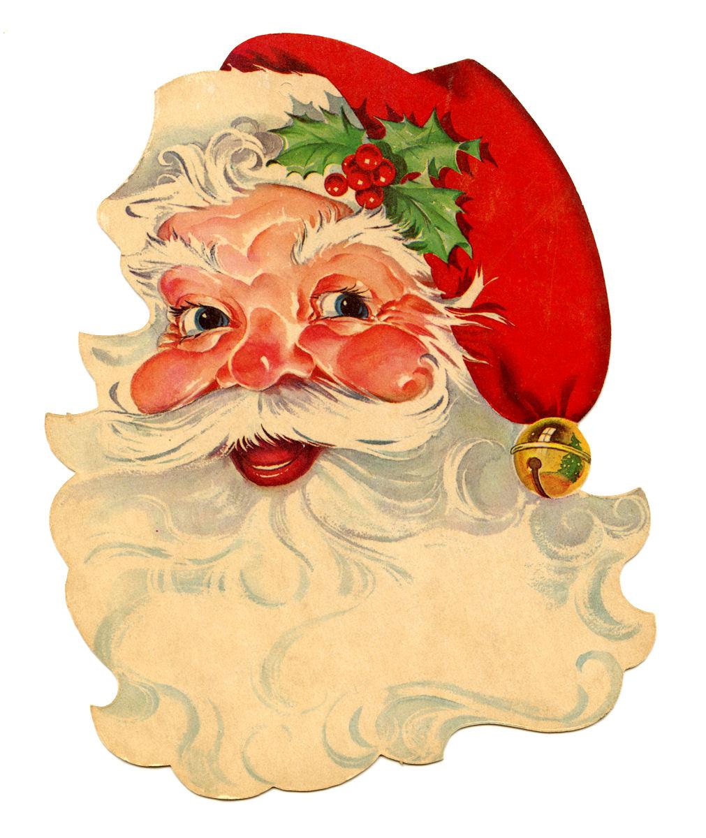 Free Vintage Clip Art u2013 Santa, Santa, Santa!