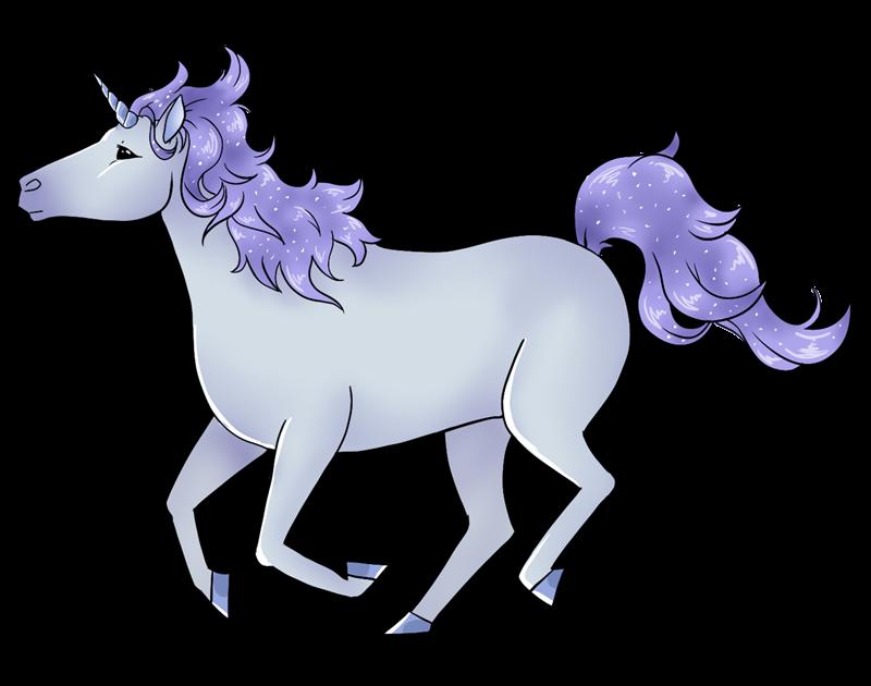 Free Violet Unicorn Clip Art  - Free Unicorn Clipart