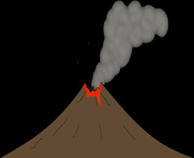 Free Volcano with Lava Clip Art