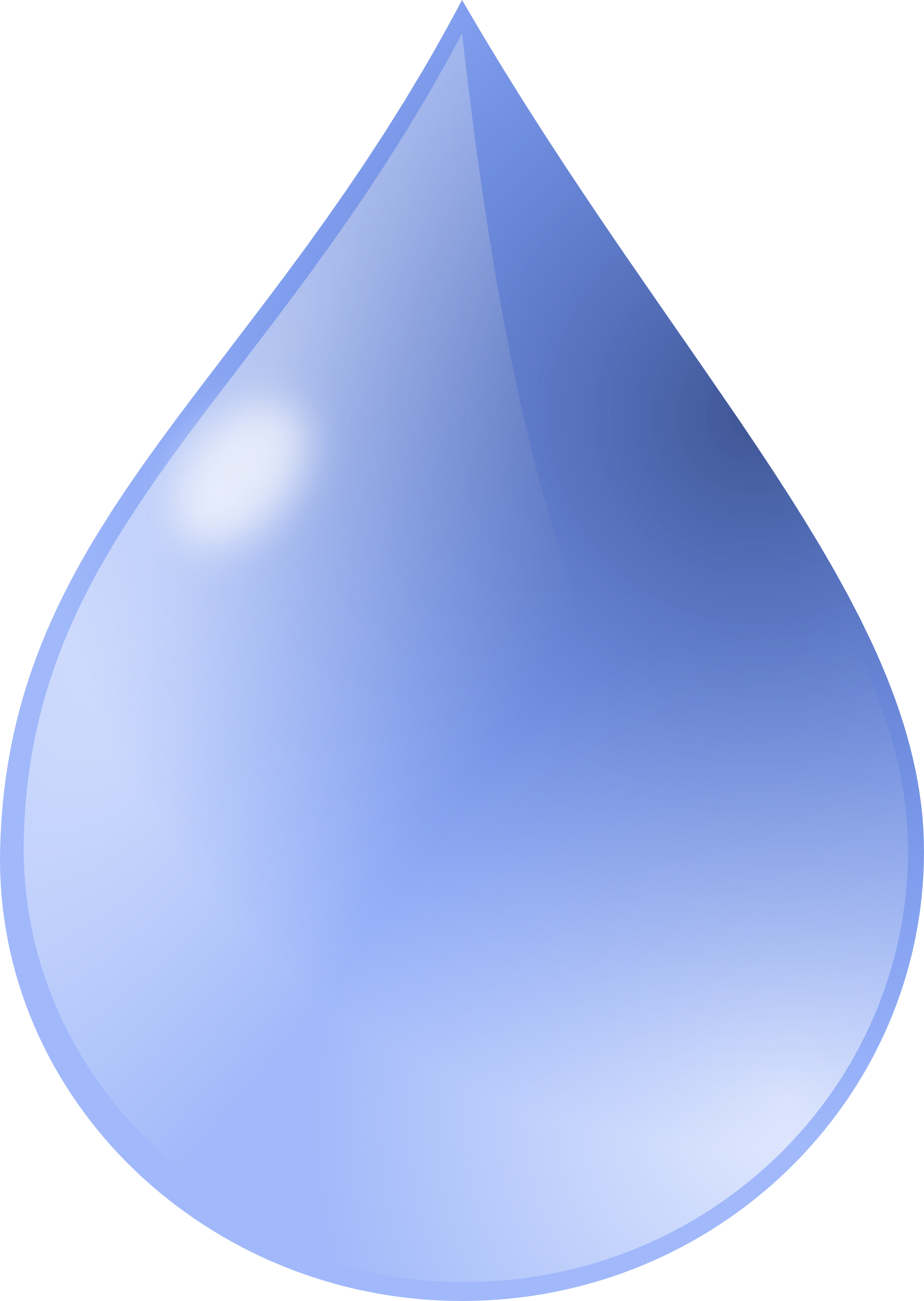Free Water Drop Clipart Illustration by 000162 .