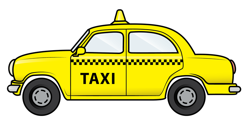 Free Yellow Taxi Clip Art