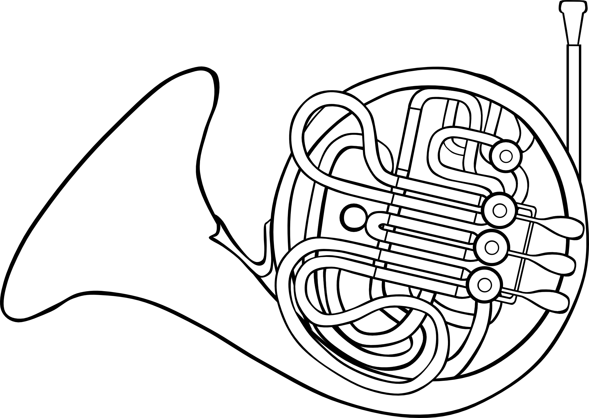 French Horn Clip Art. French Horn