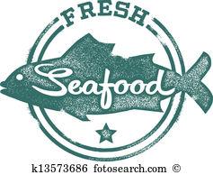 Fresh Seafood Menu Stamp