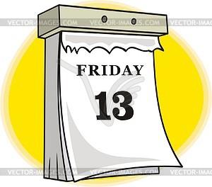 Friday 13th Vector Clipart