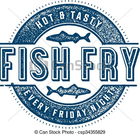 ... Friday Fish Fry - Vintage style stamp for Friday Fish Fry.