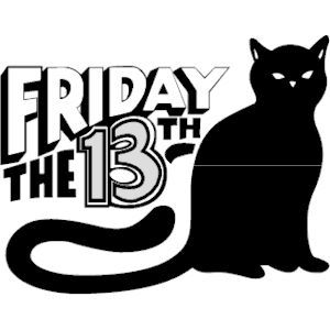 Friday the 13th clipart, .