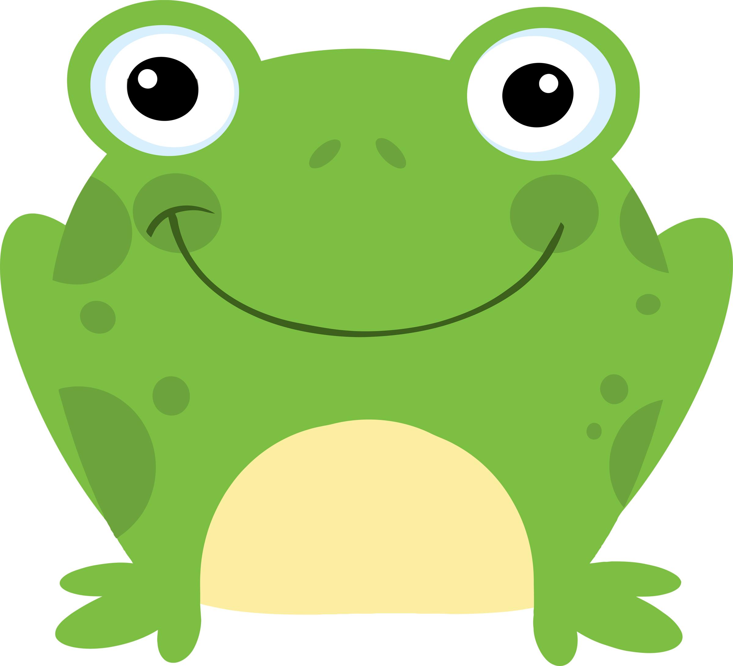 Frog clip art vector clipart .
