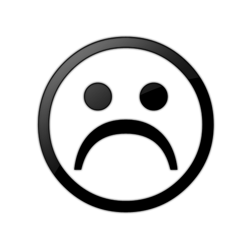 frown clipart black and white