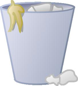 Full Trash Can Clip Art At Clker Com Vector Clip Art Online Royalty