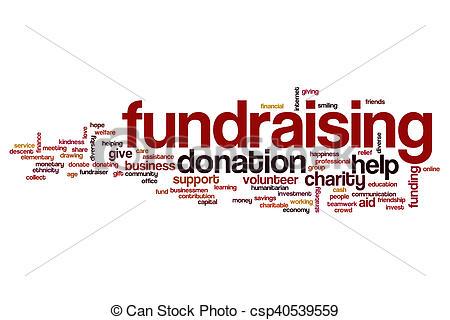 Fundraising word cloud - csp40539559