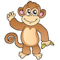 Funny Baby Monkey Pictures - Monkeys Cartoon Clip Art
