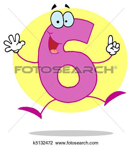 Funny Cartoon Numbers-6