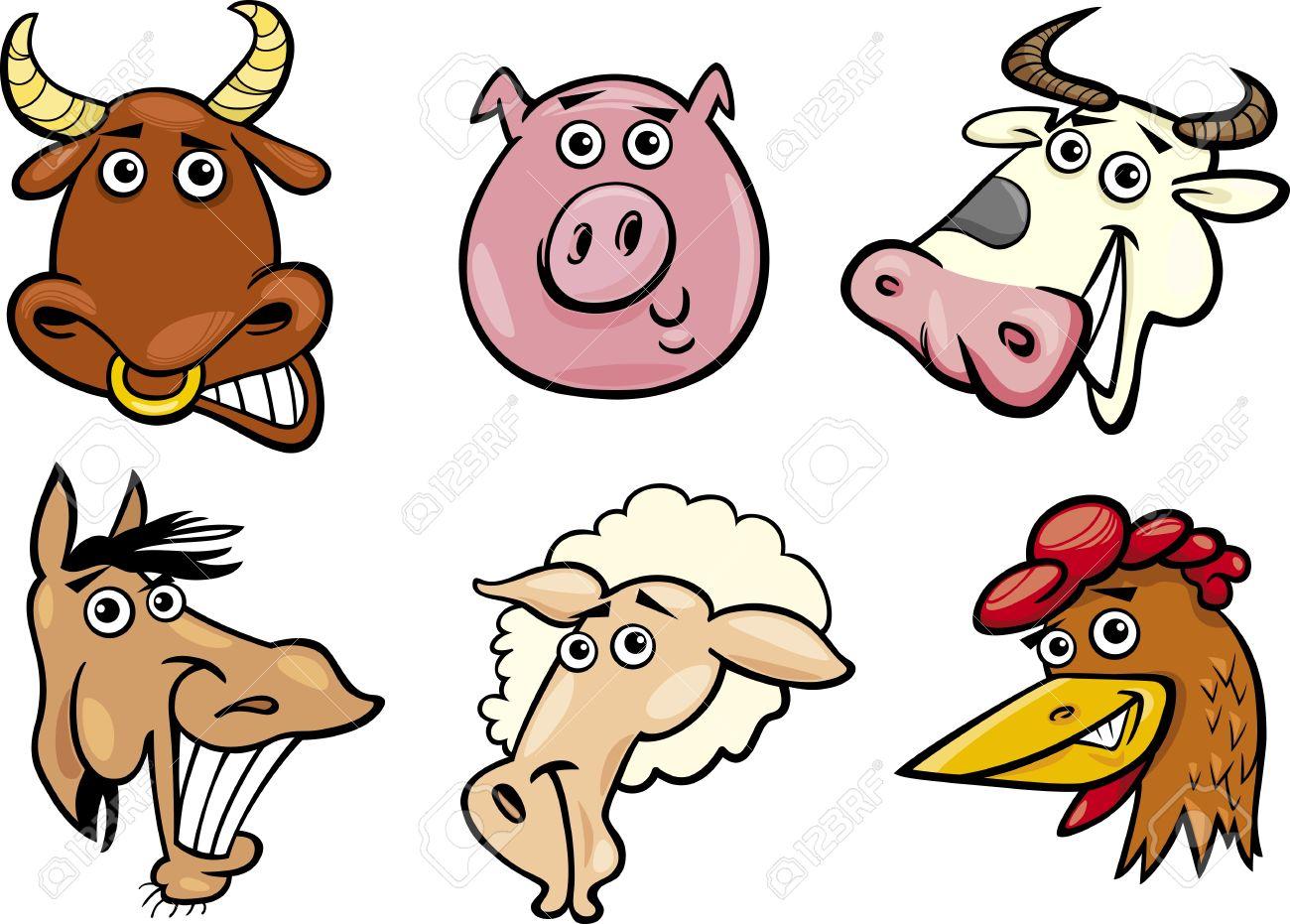 Funny Farm Animals Clipart