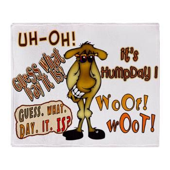 Funny Hump Day Clip Art | Awesome Humpday Camel Throw blanket with cute camel on each