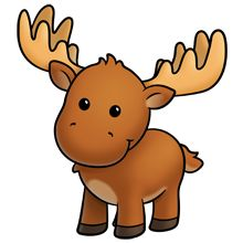Funny moose clipart