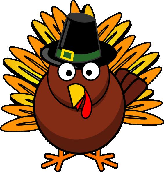 Funny thanksgiving turkey .