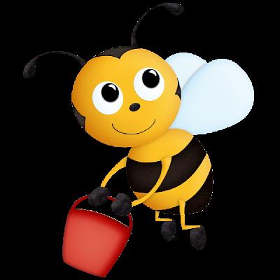 Funny Valentine Honey Bees .