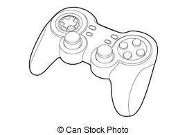 . ClipartLook.com game-pad - Black outline gamepad on white bakcground (vector. ClipartLook.com ClipartLook.com
