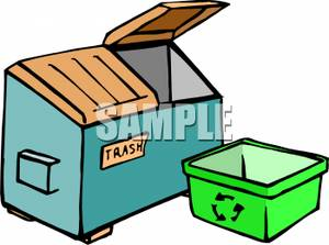 Garbage Dumpster Clipart #1