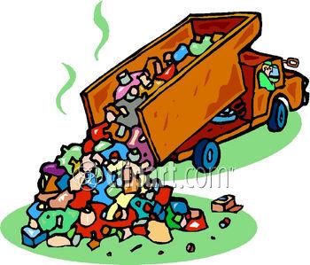 Garbage Garbage Truck Landfill Rubbish Trash Truck Waste Garbage Truck