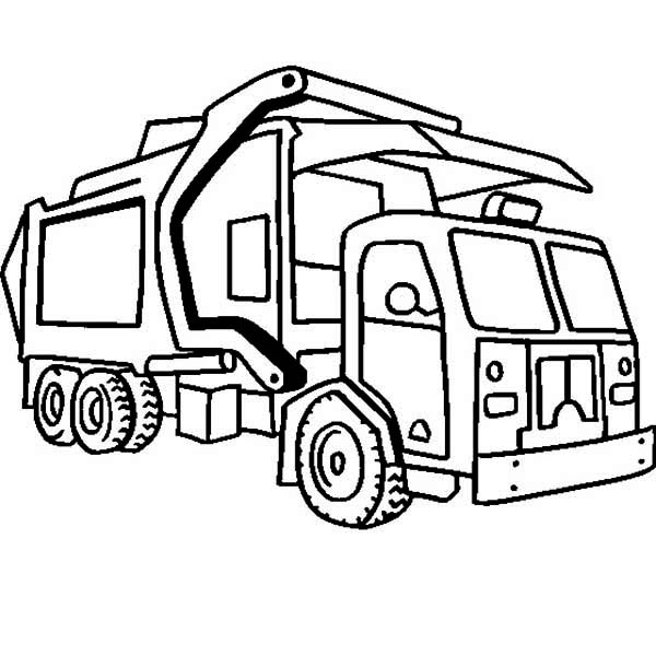 Garbage Truck Coloring Pages Garbage Truck Clip Art Clipart library