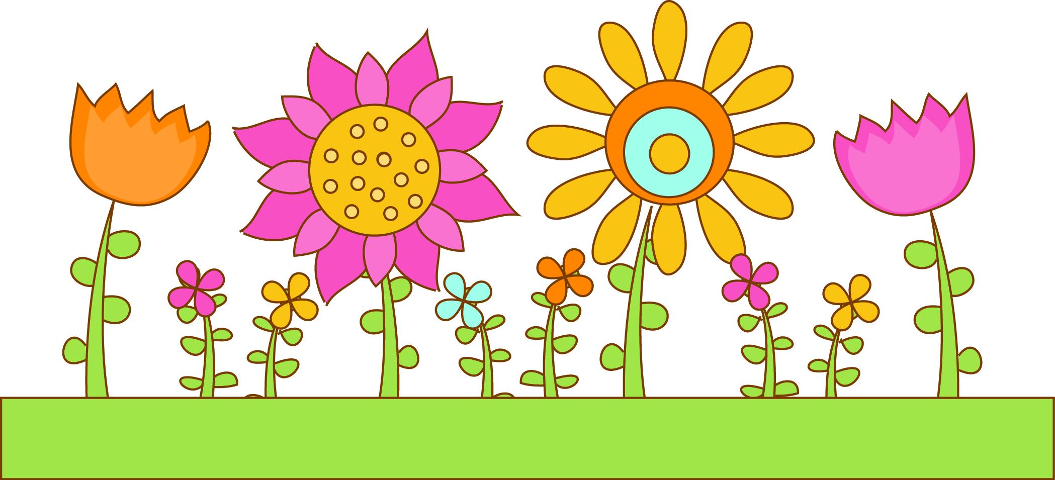 Garden clip art spring garden flower clipart birdhouse country