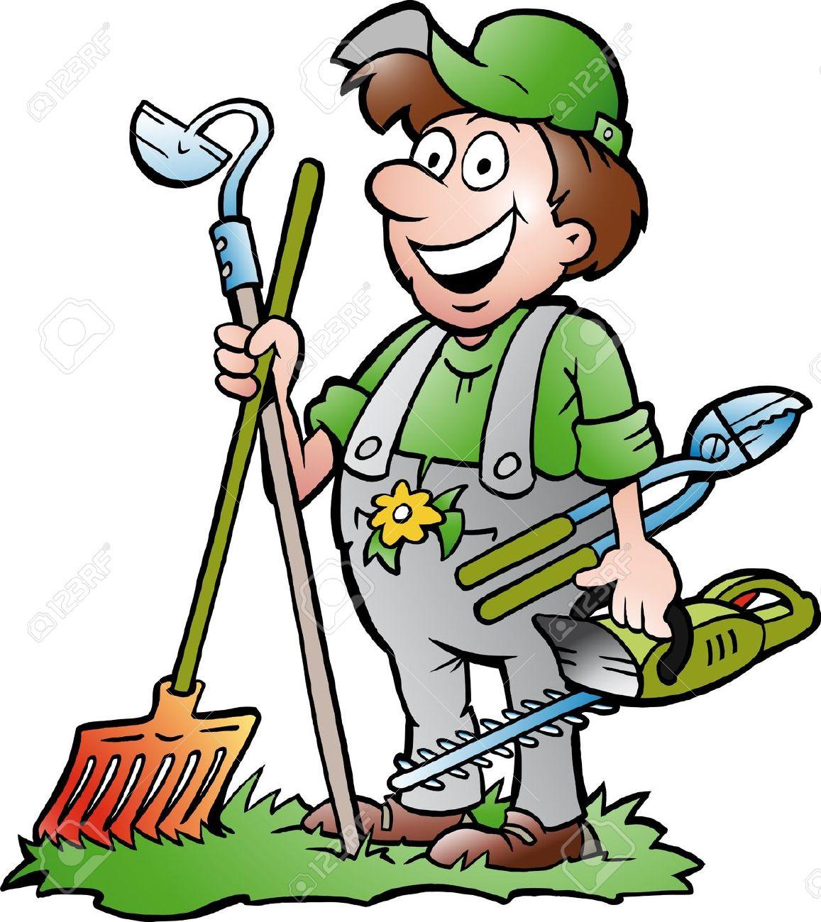 gardener: Hand-drawn Vector .