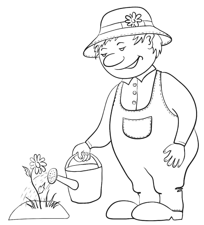 Gardening Clipart Black .