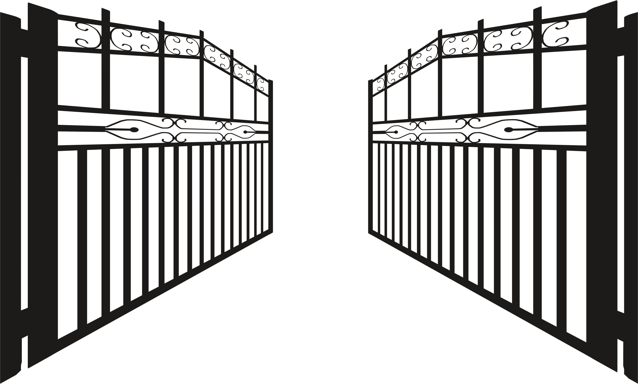 Gate Fence Clip art - Iron Gate Cliparts
