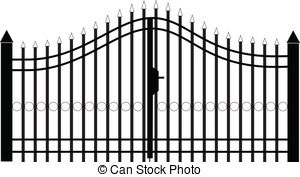 . hdclipartall.com gate silhouette vector