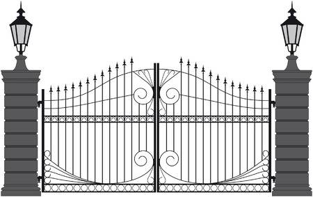 iron gate - Gate Clipart