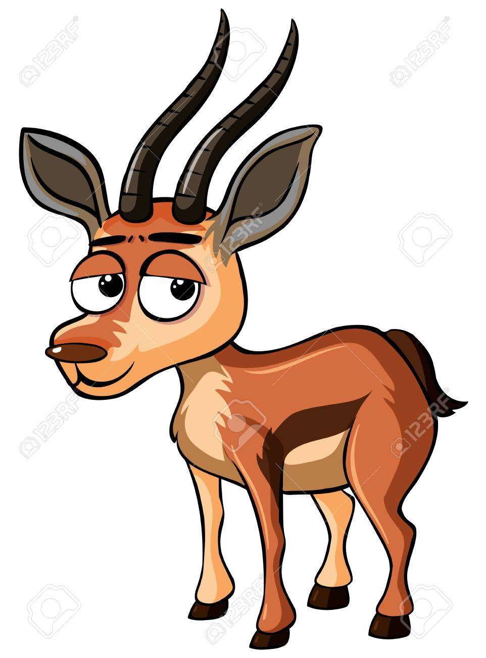 Gazelle with sad face illustration Stock Vector - 83683364
