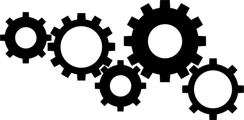 Gear Clipart Black And White - Clipartxtras intended for Gears Clipart  Black And White 26543