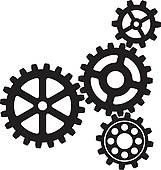 Gears Background; growing gears