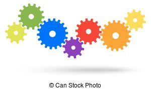 . ClipartLook.com gears for cooperation symbolism - different colored gears. ClipartLook.com ClipartLook.com