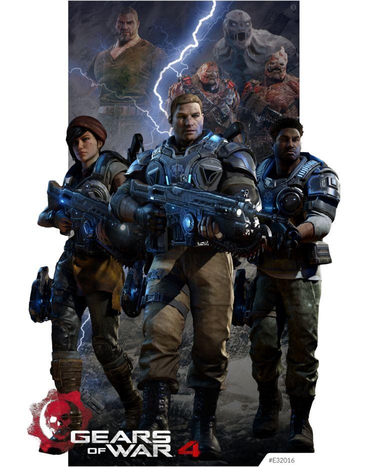 Gears Of War 4 E32016 by KindratBlack.deviantart clipartlook.com on @DeviantArt