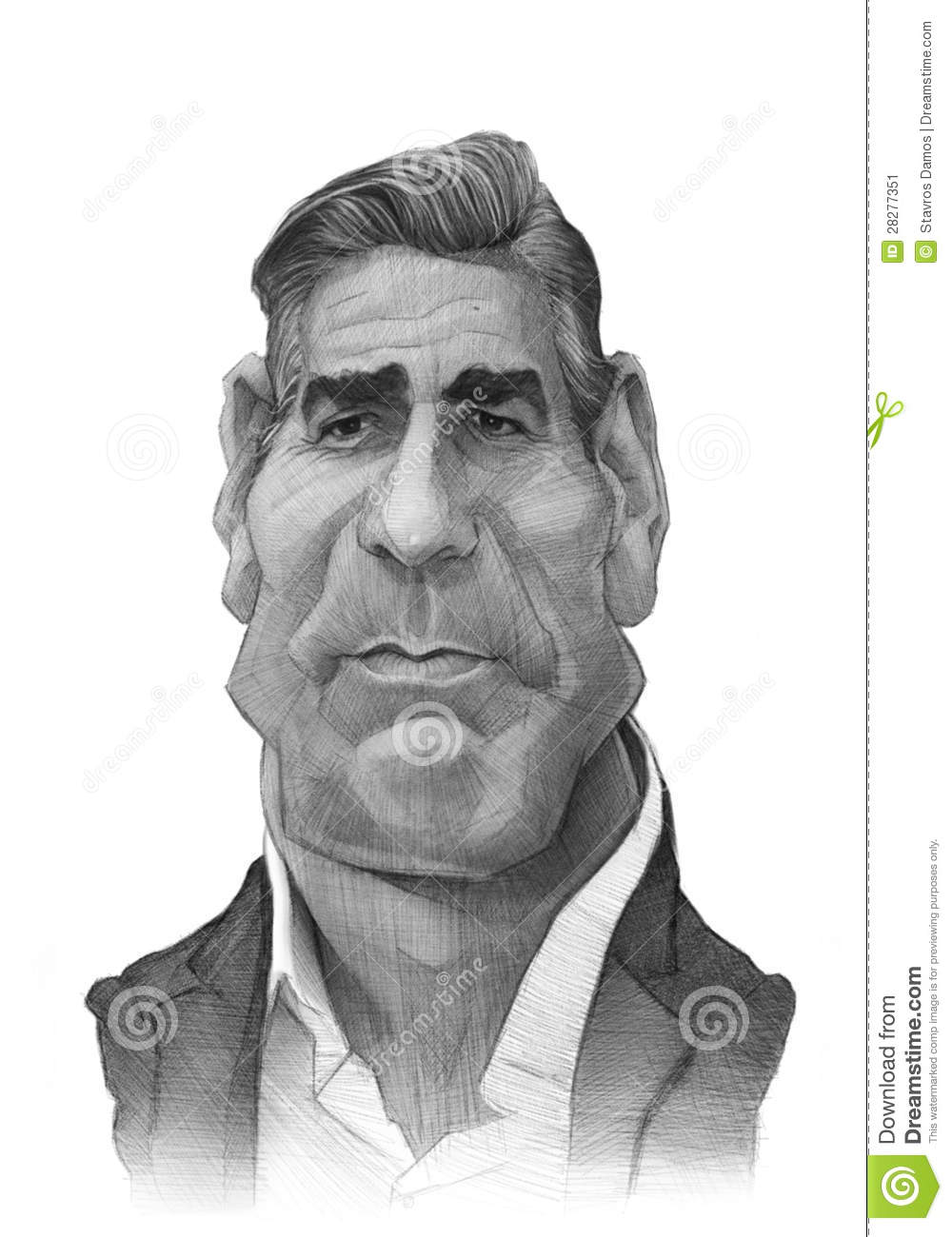 George Clooney Caricature Sketch