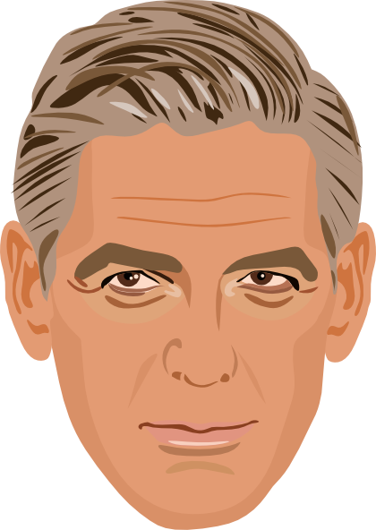 George Clooney Clip Art At Clker Hdclipartall.com - Vector Clip Art Online, Royalty Free  U0026 Public Domain