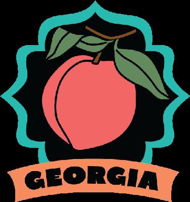 Georgia luggage label or travel sticker | Clipart